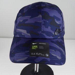 Nike Heritage 86 Aerobill Camo Hat Cap NWT Blur